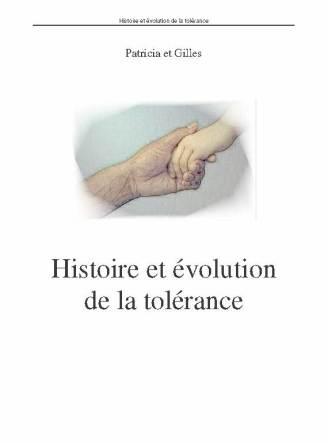 histoire et evolution de la tolérance