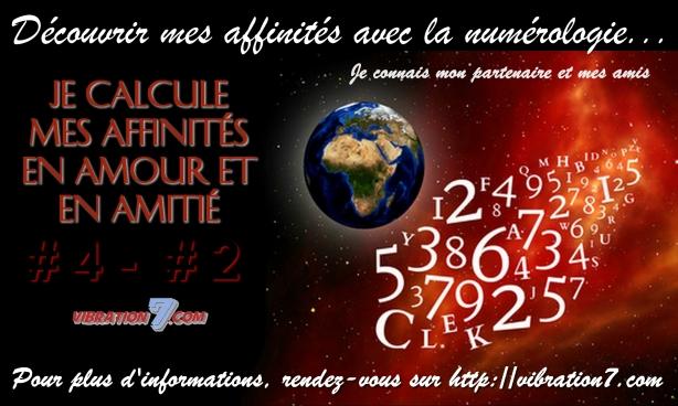 numerologie affinité